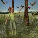 Polly and the birds